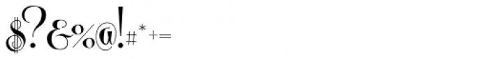 Centeria Script Fat Font OTHER CHARS