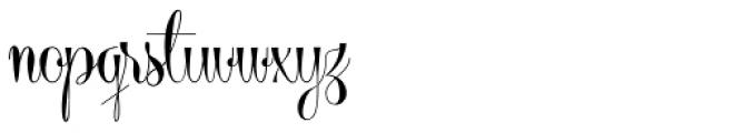 Centeria Script Fat Font LOWERCASE