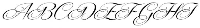 Centeria Script Medium Alt Slanted Font UPPERCASE