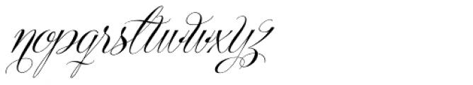 Centeria Script Medium Alt Slanted Font LOWERCASE
