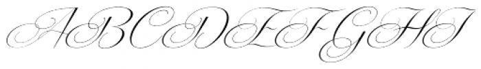 Centeria Script Thin Alt Slanted Font UPPERCASE