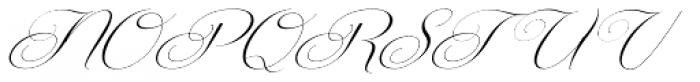 Centeria Script Thin Slanted Font UPPERCASE