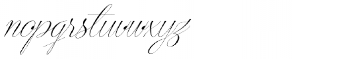Centeria Script Thin Slanted Font LOWERCASE