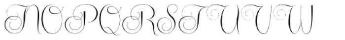 Centeria Script Thin Font UPPERCASE