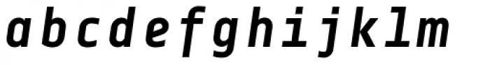 Centima Mono Bold Italic Font LOWERCASE