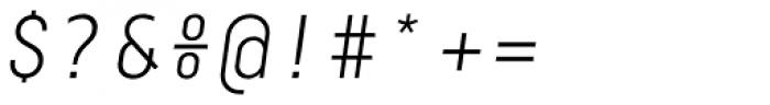 Centima Mono Light Italic Font OTHER CHARS