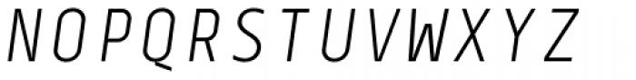 Centima Mono Light Italic Font UPPERCASE