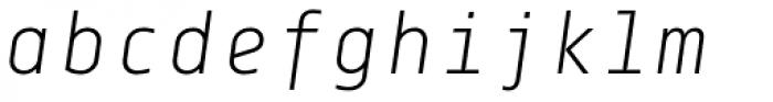 Centima Mono Light Italic Font LOWERCASE