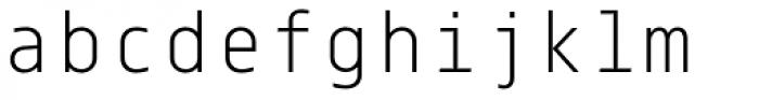 Centima Mono Light Font LOWERCASE