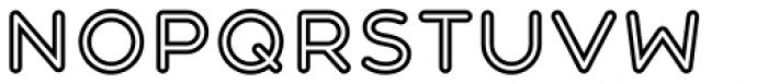 Central Inline Font LOWERCASE