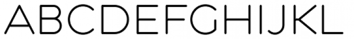 Central Light Font LOWERCASE