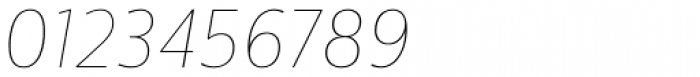 Centrale Sans Condensed ExtraThin Italic Font OTHER CHARS