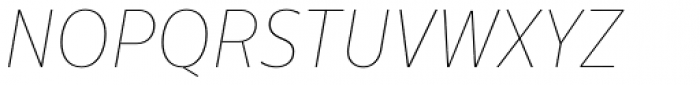 Centrale Sans Condensed ExtraThin Italic Font UPPERCASE