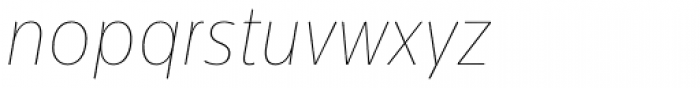 Centrale Sans Condensed ExtraThin Italic Font LOWERCASE