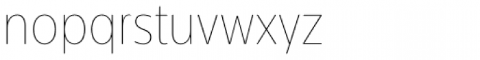 Centrale Sans Condensed ExtraThin Font LOWERCASE