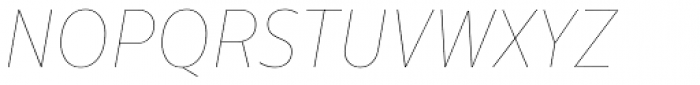 Centrale Sans Condensed Hairline Italic Font UPPERCASE