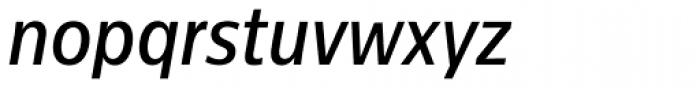 Centrale Sans Condensed Medium Italic Font LOWERCASE