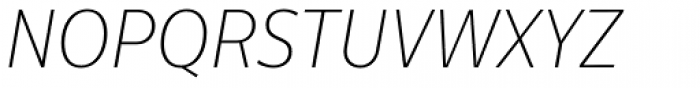 Centrale Sans Condensed Thin Italic Font UPPERCASE