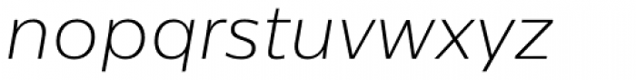 Centrale Sans ExtraLight Italic Font LOWERCASE