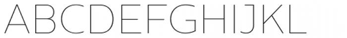 Centrale Sans ExtraThin Font UPPERCASE