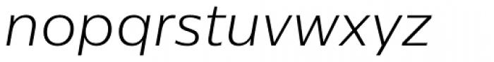 Centrale Sans Light Italic Font LOWERCASE