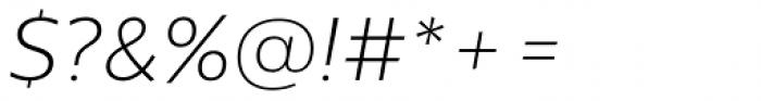 Centrale Sans Pro XLight Italic Font OTHER CHARS