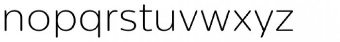 Centrale Sans Rounded ExtraLight Font LOWERCASE