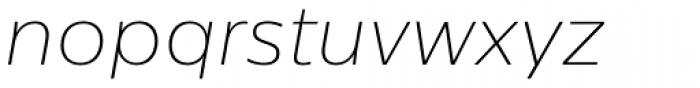 Centrale Sans Thin Italic Font LOWERCASE