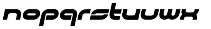 CentreForward Black Italic Font LOWERCASE