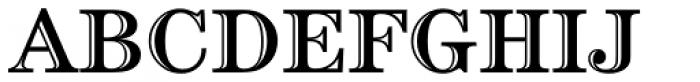 Century Handtooled OS Font UPPERCASE