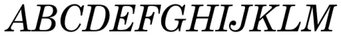 Century Schoolbook EF Italic Font UPPERCASE