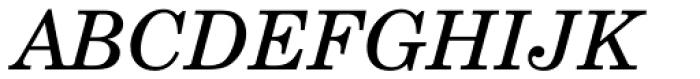Century Schoolbook L Italic Font UPPERCASE
