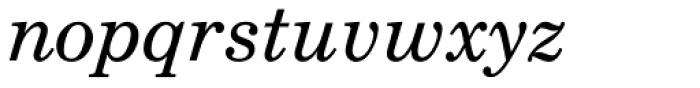 Century Schoolbook L Italic Font LOWERCASE