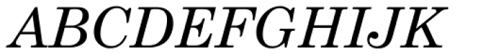 Century Schoolbook Pro Cyrillic Italic Font UPPERCASE
