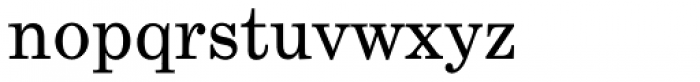 Century Schoolbook Regular Font LOWERCASE