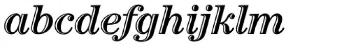 Century Std Handtooled Bold Italic Font LOWERCASE