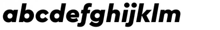 Cera PRO Black Italic Font LOWERCASE