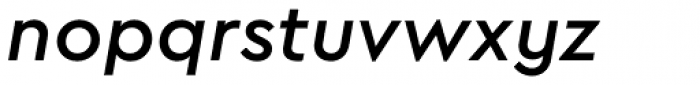 Cera PRO Medium Italic Font LOWERCASE