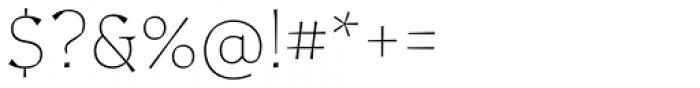 Certa Serif Thin Font OTHER CHARS