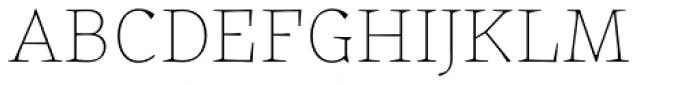 Certa Serif Thin Font UPPERCASE