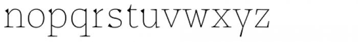 Certa Serif Thin Font LOWERCASE