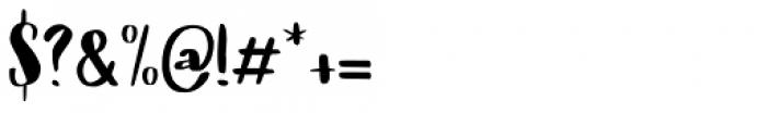 Cerulean Blue Regular Font OTHER CHARS
