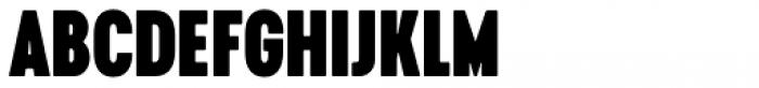 Cervino Black Condensed Font UPPERCASE