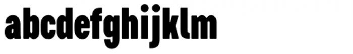 Cervino Black Condensed Font LOWERCASE
