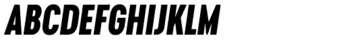 Cervino Extra Bold Condensed Italic Font UPPERCASE