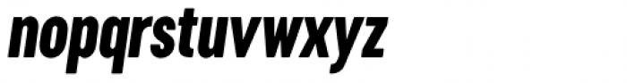 Cervino Extra Bold Condensed Italic Font LOWERCASE