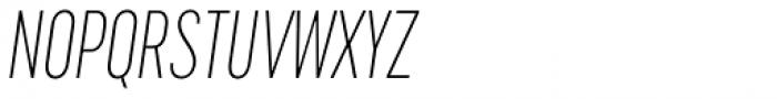 Cervino Extra Light Condensed Italic Font UPPERCASE