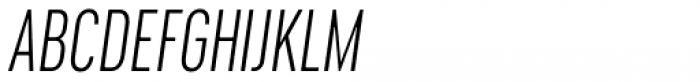 Cervino Light Condensed Italic Font UPPERCASE