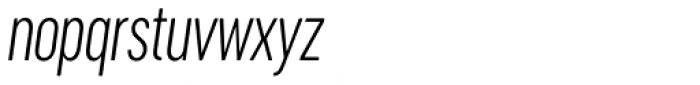 Cervino Light Condensed Italic Font LOWERCASE