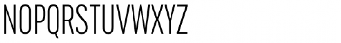 Cervino Light Condensed Font UPPERCASE
